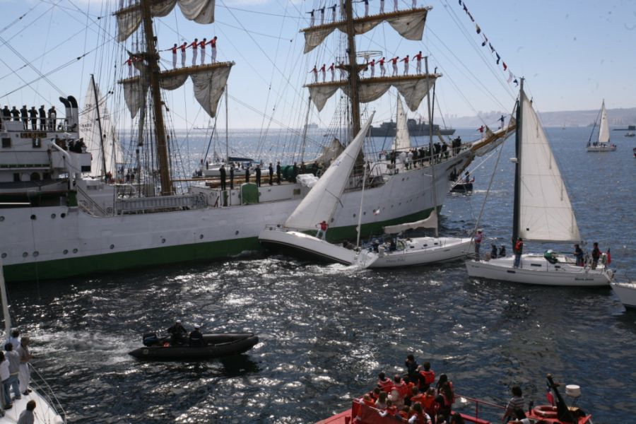 парусно моторное судно
