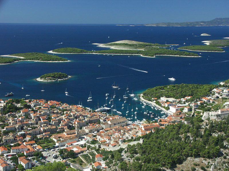 Яхта парковка Хорватия