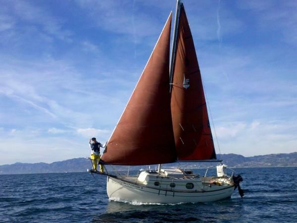 лодка парус, яхта парус