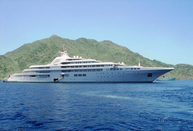 дорогие яхты мира - яхта Дубам