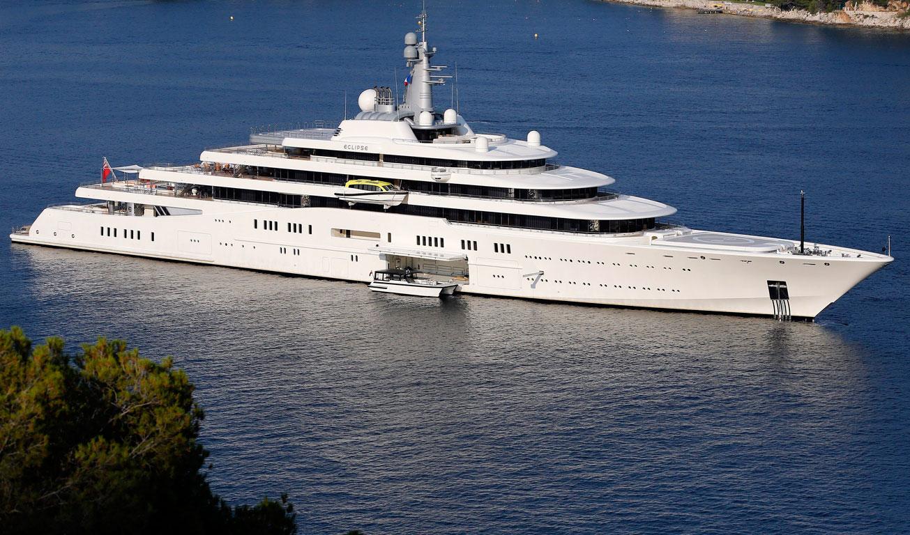 дорогие яхты мира - яхта эклипс