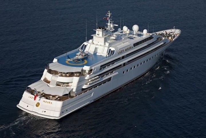 дорогие яхты мира - яхта Леди Маура