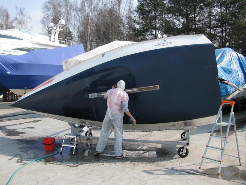 яхта бу - мойка пресной водой