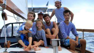 дети на борту судна
