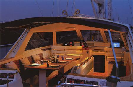 кокпит парусной яхты