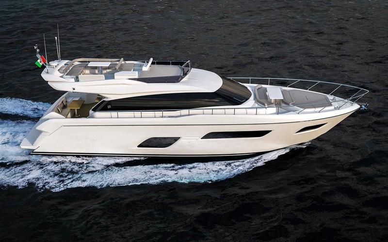 Моторная яхта Ferretti 550